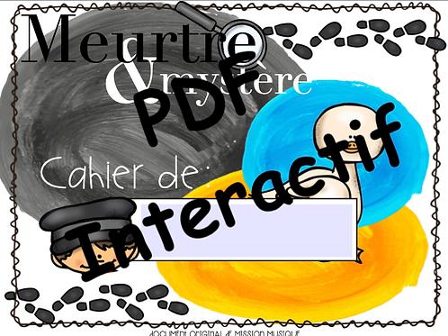 Meurtre & Mystère Pierre et le loup - cahier de l'élève interactif