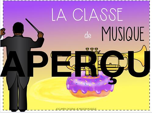 Affiche - La classe de musique - Trompette - Mauve