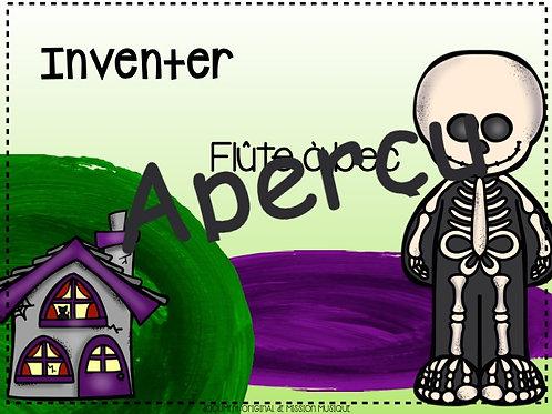 Inventer - Halloween - Flûte à bec