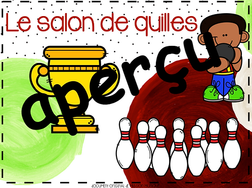 Le salon de Quilles - 2e cycle