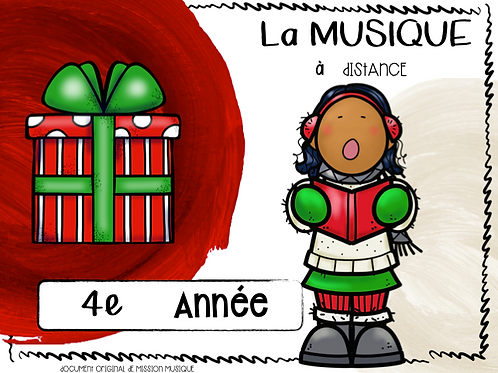 Musique à distance - Noël 4e année