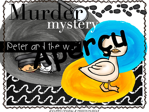 Murder mystery: Peter and the wolf