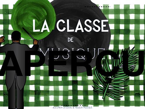 Affiche - La classe de musique - Chef - Vert foncé