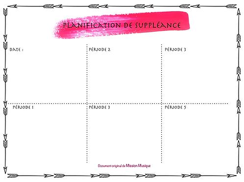 Planification de suppléance - Rose