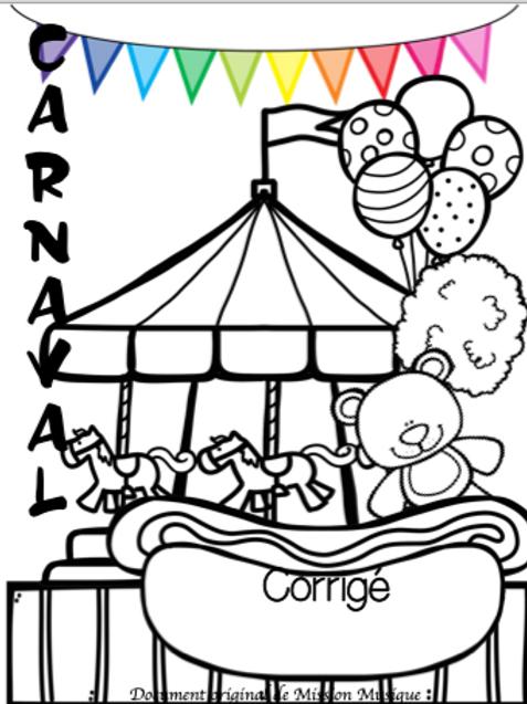 Corrigé - Carnaval 1er cycle