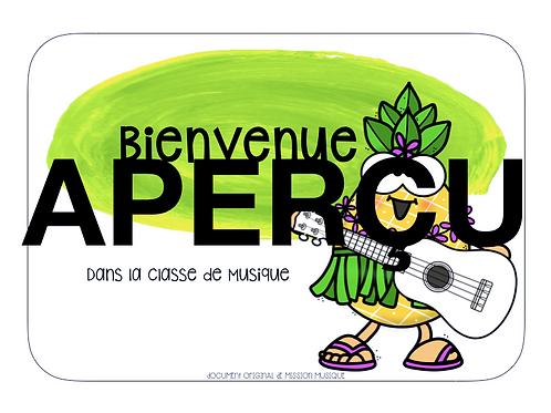Affiche - Bienvenue - Ananas - Vert