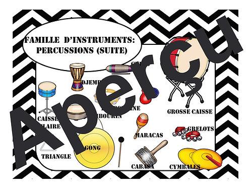 Affiches - Les familles d'instruments