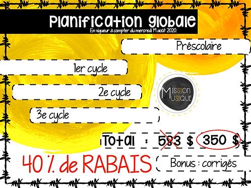 Planification globale 3e cycle