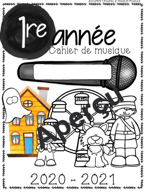 Cahiers de musique 1re à 6e année - La rentrée