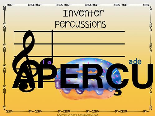 Inventer - La baignade - Percussions