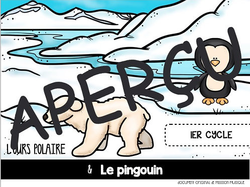 L'ours polaire et le pingouin
