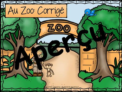 Le Zoo - Carnaval des animaux corrigé