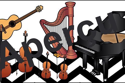 Affiches - Les instruments de l'orchestre