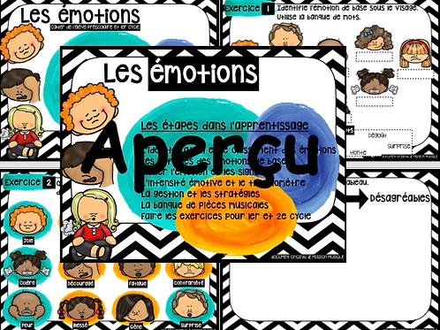 Les émotions - Cahier de l'élève - 2e cycle