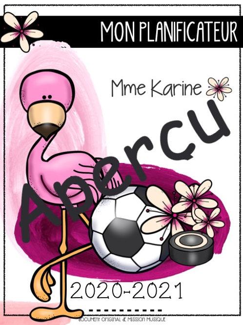 Planificateur Titulaire/préscolaire flamant rose/sport