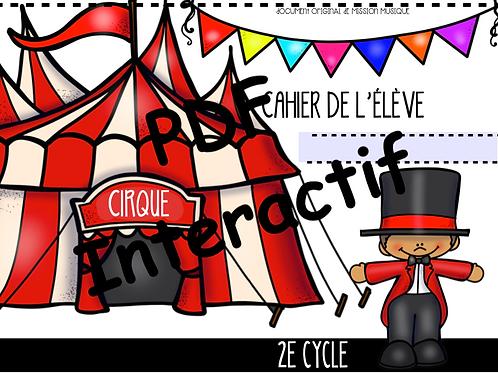 Cirque 2e cycle - Cahier de l'élève interactif