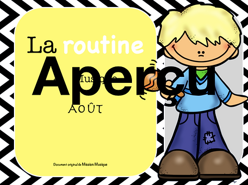 Affiches - Routine - Mois