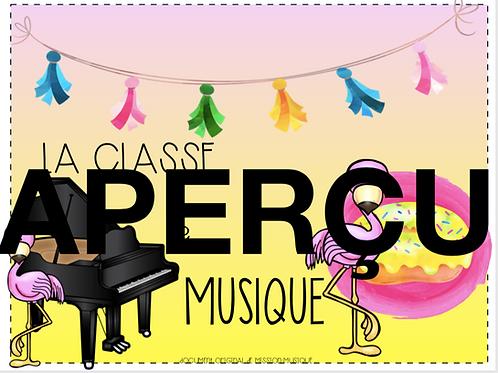 Affiche - La classe de musique - Flamant - Rose - Jaune
