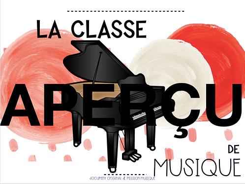 Affiche - La classe de musique - Piano - Corail