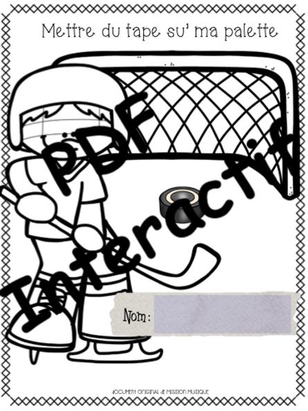 Mettre du tape su' ma palette - Cahier de l'élève interactif