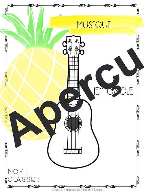 Page couverture pour élève - Ananas