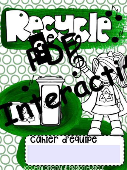 Recycler - cahier de l'élève interactif