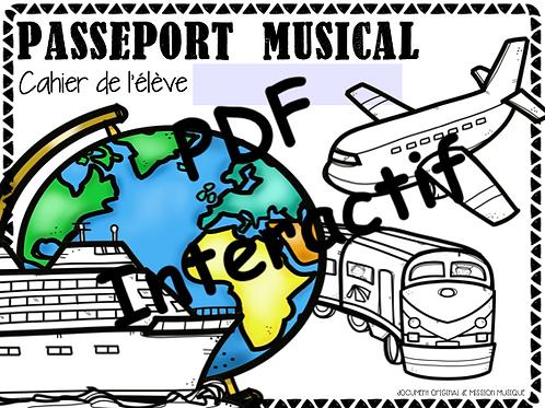 Mon passeport musical - cahier de l'élève interactif