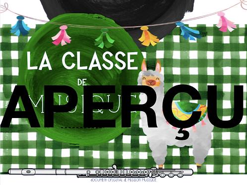 Affiche - La classe de musique - Lama -Vert foncé