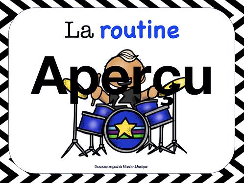 Affiches - Routine - Blanc