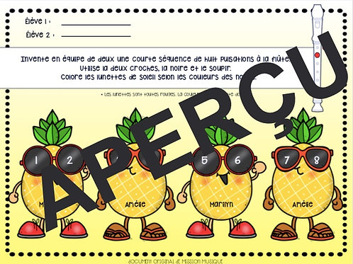 Inventer -  Flûte - Ananas