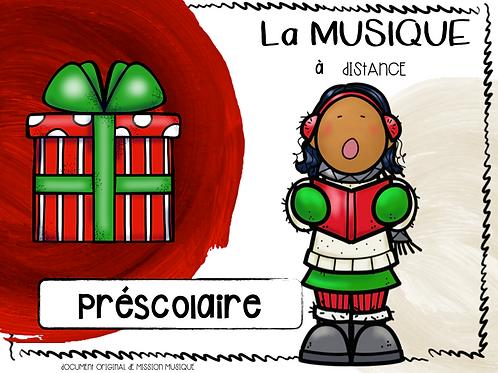 Musique à distance - Noël préscolaire