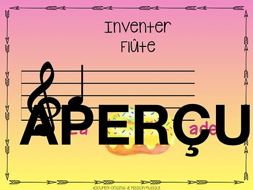 Inventer - La baignade - Flûte