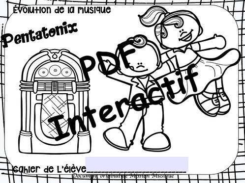 Évolution de la musique Pentatonix - cahier de l'élève interactif