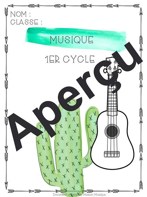 Page couverture pour élève - Cactus