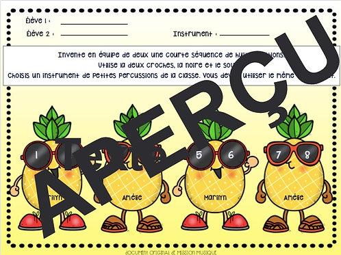 Inventer - Percussions - Ananas
