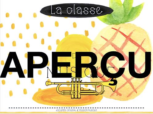 Affiche - La classe de musique - Ananas - Jaune
