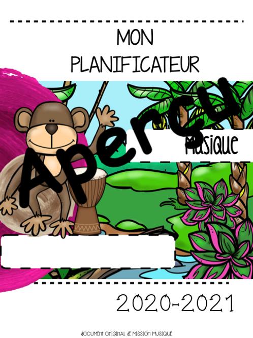 Planificateur - Musique - Singe