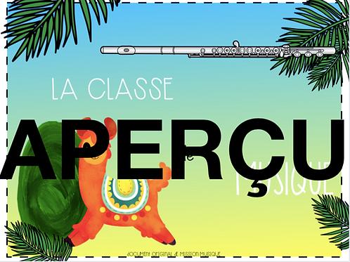 Affiche - La classe de musique - Lama - Feuille