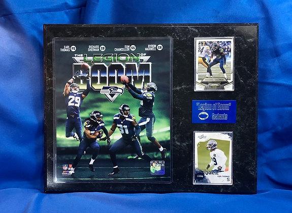 Seattle Seahawks Legion of Boom 12x15 sports plaque