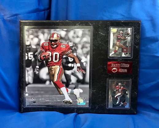 Jerry Rice 49ers 12x15 sports plaque