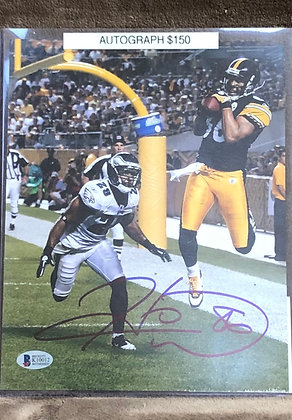 Hines Ward Steelers signed 8x10 unframed Photo Beckett certified