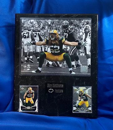 Clay Matthews Packers 12x15 sports plaque