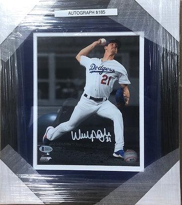 Walker Buehler signed custom frame 8x10 Beckett certified