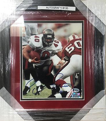 Mike Alstott Bucs signed custom frame 8x10  Beckett  certified