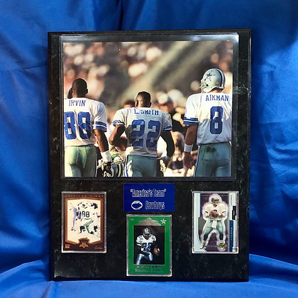 Irvin Smith Aikman Cowboys 12x15 sports plaque