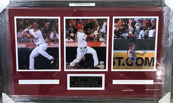 Mike Trout Angels signed  Custom Framed 8x10 MLB certified