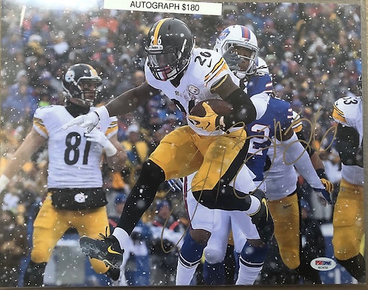 Le'Veon Bell Steelers signed  unframed 11x14 PSA/DNA certified