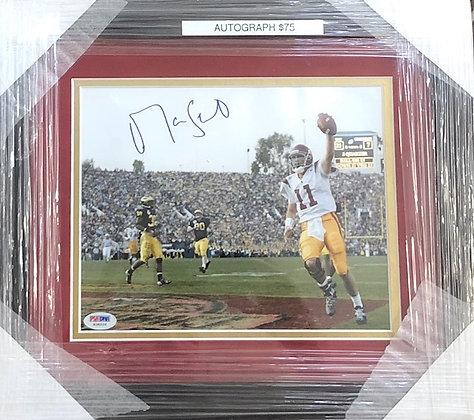 Matt Leinart USC signed custom frame 8x10  PSA/Dna certified