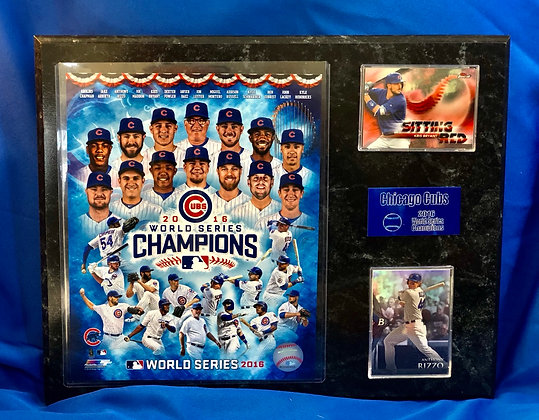 Chicago Cubs World Series champions 12x15 sports plaque