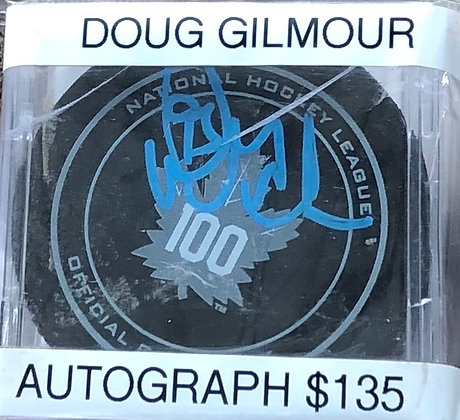 Doug Gilmour Leafs signed Puck Fanatics certified